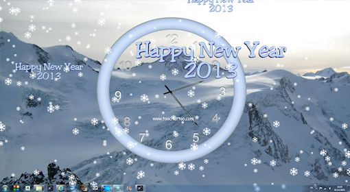 Free animated wallpaper Happy New Year 2013